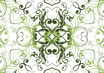 Green garden pant pattern background - Free vector #333439