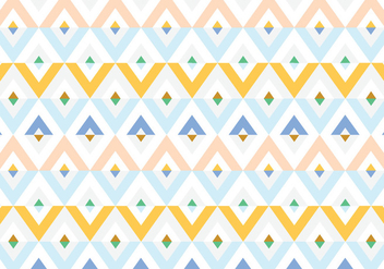 Geometric Diamond Pattern Vector - vector gratuit #333519