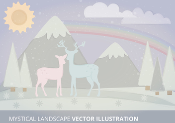 Mystical Landscape Vector Illustration - Free vector #333919
