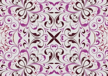 Abstract floral pattern background - vector gratuit #334009