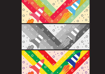 Free Simple Pop Art #7 Facebook Cover - Free vector #334029