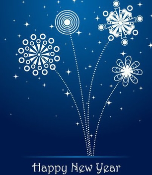 Glittery Firework New Year Background - vector gratuit #334319
