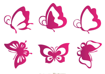 Butterfly Purple Icons - Kostenloses vector #334419