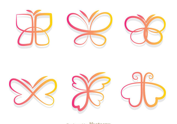 Butterfly Gradient Icons - бесплатный vector #334429