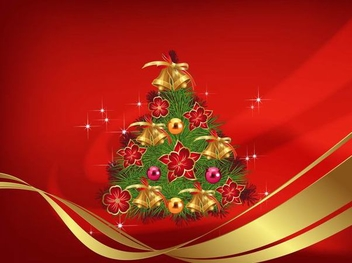 Christmas Decoration Red Background - vector gratuit #334509