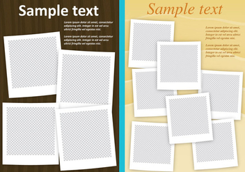 Photo Collage Templates - Free vector #334549