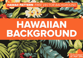 Hawaiian Pattern Free Vector Background - Free vector #334569