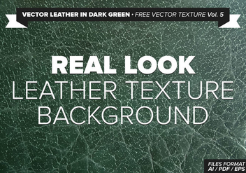 Vector Leather In Dark Green Free Vector Texture Vol.5 - Free vector #334579