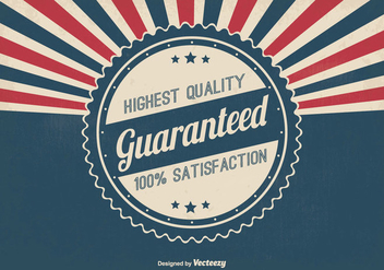 Quality Guaranteed Retro Illustration - Free vector #334599