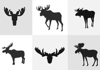 Moose Silhouette - Free vector #334629