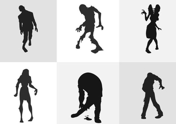 Zombie Silhouette - Free vector #334639