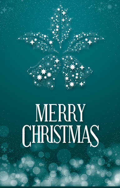 Christmas banner with shinning bells - Free vector #334919
