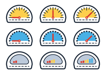 Outline Fuel Gauge - Free vector #335299