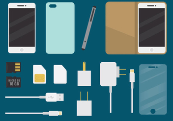 Phone Accessories - vector #335319 gratis