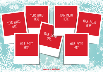 Christmas Photo Collage Template - vector gratuit #335329