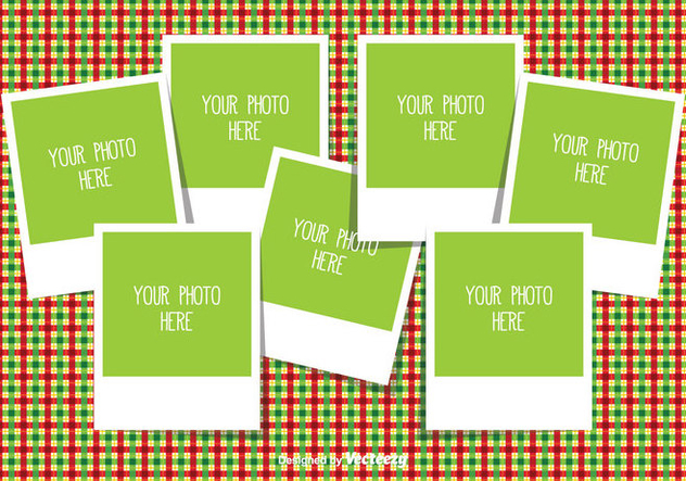 christmas photo collage template free vector 335349