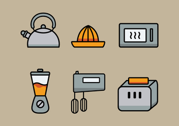 Vector Kitchen Utensils Illustration Set - Free vector #335369