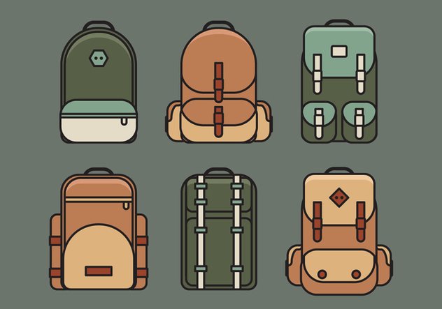 Sac de Vector Illustration Set - vector gratuit #335379