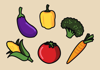 Vector Vegetables Illustration Set - vector gratuit #335409
