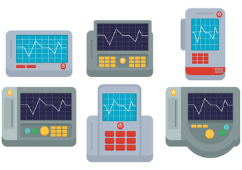 EKG Machine Vector - vector gratuit #335569