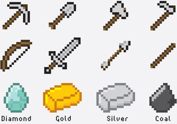 Minecraft Items - vector gratuit #335609