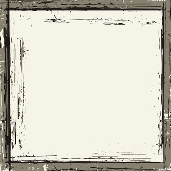 Distorted Grungy Black Square Frame - vector gratuit #335639