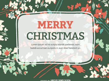 Christmas Flourish postcard - Free vector #335669
