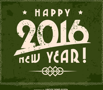 Grunge 2016 happy new year design - vector gratuit #335709