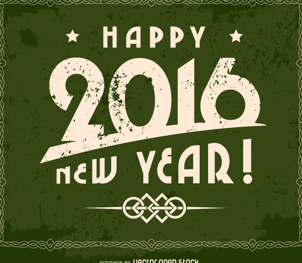 Grunge 2016 happy new year design - Free vector #335709