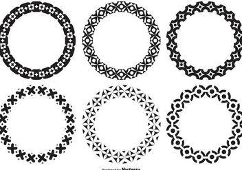 Assorted Decorative Circle Shapes - vector gratuit #335739