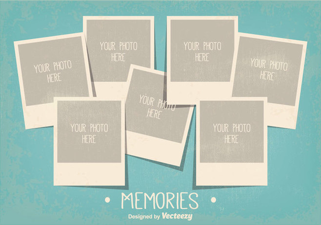 vintage style photo collage template free vector download 335749