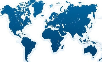 Blue World Map Background - Free vector #335859
