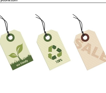 Ecological Sale Tag Set - vector gratuit #335869