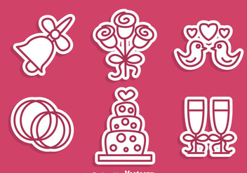 Wedding Stiker Icons - vector #335969 gratis