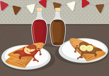 Crepes Vector Illustration - vector #336049 gratis