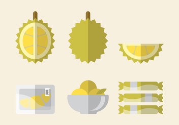 Vector Durian Set - vector gratuit #336079