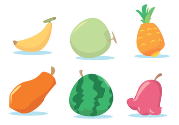 Fruit Vector Set - vector #336099 gratis