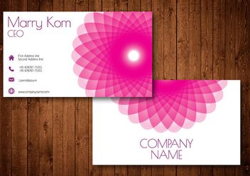Pink Abstract Flower Creative Business Card - vector gratuit #336189
