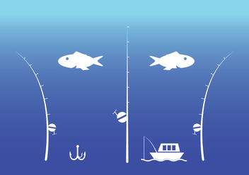 Fishing Rod Vector - Free vector #336209