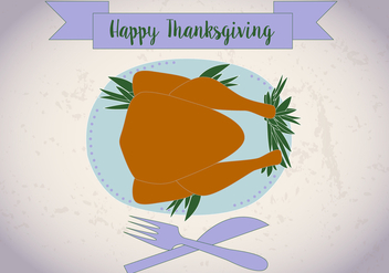 Free Thanksgiving Meal Vector - Kostenloses vector #336249