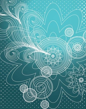 Decorative Linen Floral Blue Background - Kostenloses vector #336279