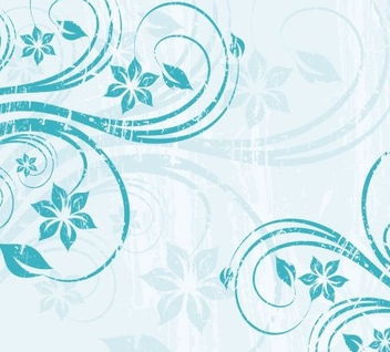 Grungy Blue Swirls Background - vector gratuit #336349