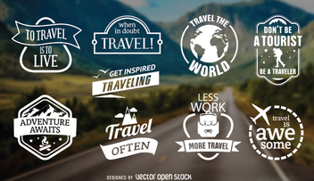 9 travel emblems - Free vector #336389