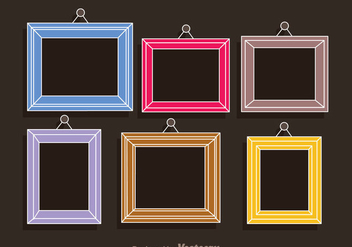 Colorful Frames Photo Collage Template - Free vector #336489