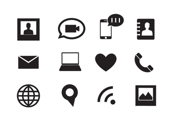 Set of Web Icons in Vector - vector #336559 gratis