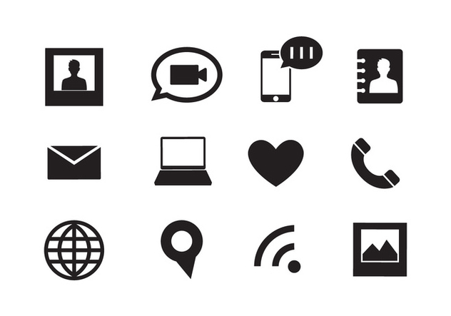 Set of Web Icons in Vector - Free vector #336559