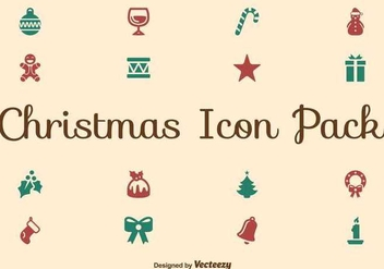 Christmas flat icon set - Free vector #336579