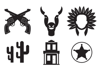 Wild West Vector Icons - Kostenloses vector #336599
