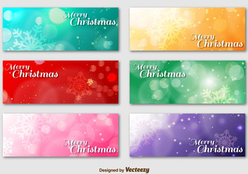Merry Christmas Background Banner - vector gratuit #336609