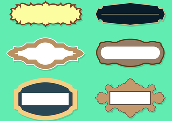 Vector Set of Name Plates - vector gratuit #336649